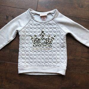 Girls Juicy Couture Metallic Toddler Sweater 3T